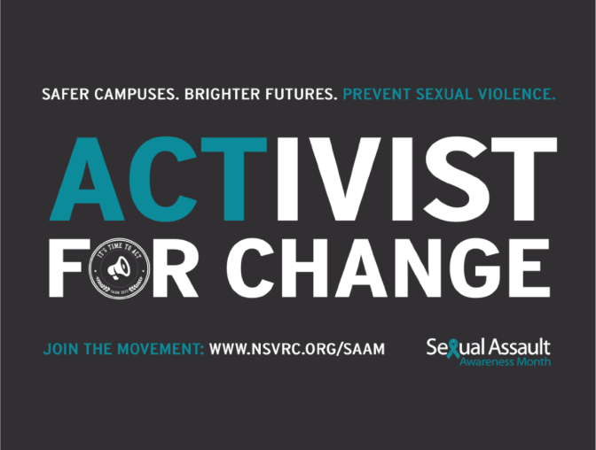 Sexual Assault Awareness & Prevention Month (SAAPM) – 2018